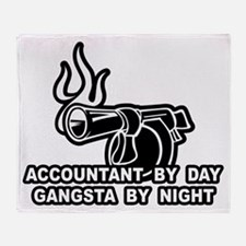 Accountant By Day Throw Blanket