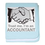 Trust Me. I'm an accountant baby blanket