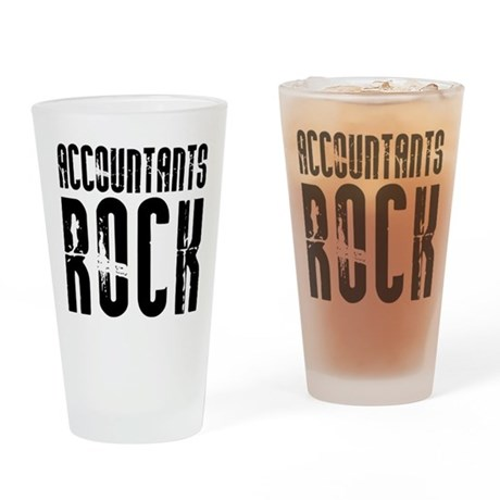 Accountants Rock Pint Glass