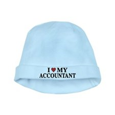 I Love My Accountant baby hat