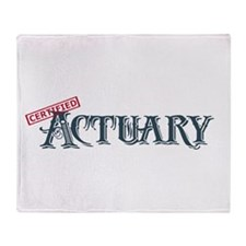 Certified Actuary Throw Blanket