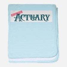 Certified Actuary baby blanket