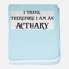 Think Actuary baby blanket