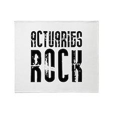 Actuaries Rock Throw Blanket