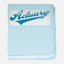 Retro Actuary baby blanket