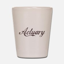 Vintage Actuary Shot Glass