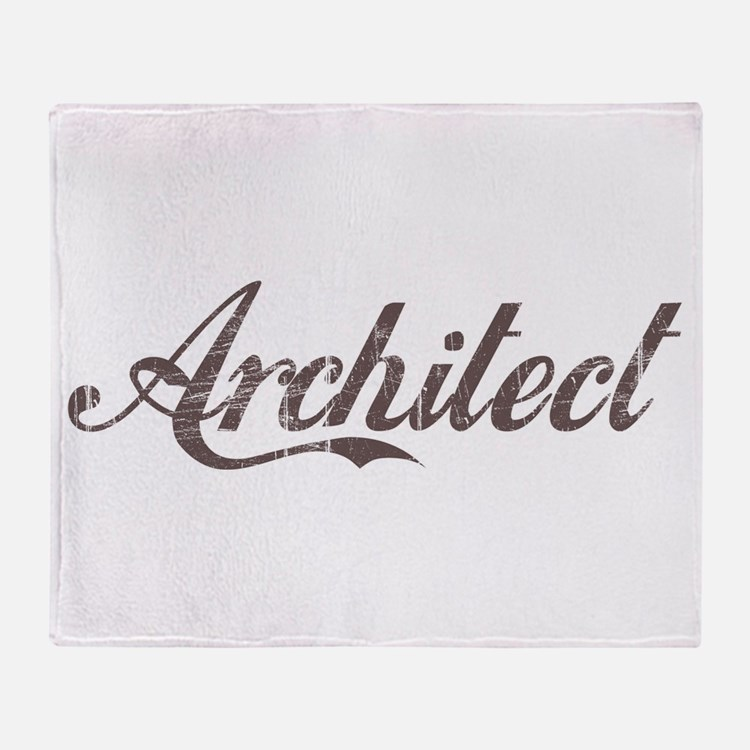 Vintage Architect Throw Blanket