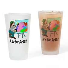 A is for Artist Pint Glass