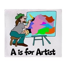 A is for Artist Throw Blanket