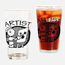 Retro Artist Pint Glass