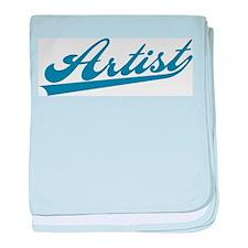 Retro Artist baby blanket