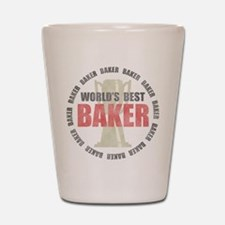 World's Best Baker Shot Glass