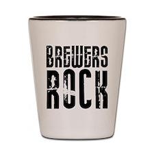 Brewers Rock Shot Glass