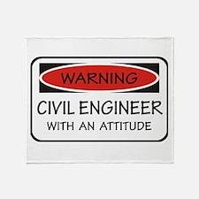 Attitude Civil Engineer Throw Blanket