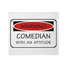 Attitude Comedian Throw Blanket