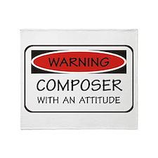 Attitude Composer Throw Blanket