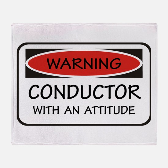Attitude Conductor Throw Blanket