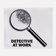 Detective At Work Throw Blanket