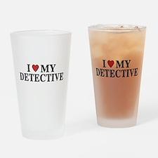 I Love My Detective Pint Glass