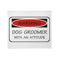 Attitude Dog Groomer Throw Blanket