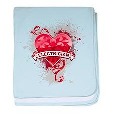 Heart Electrician baby blanket
