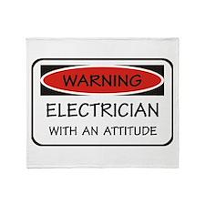 Attitude Electrician Throw Blanket