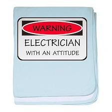 Attitude Electrician baby blanket