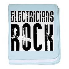 Electricians Rock baby blanket