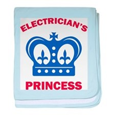 Electrician's Princess baby blanket