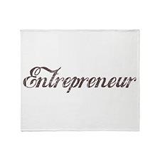Vintage Entrepreneur Throw Blanket