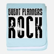 Event Planners Rock baby blanket