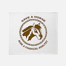 Ride A Financial Analyst Throw Blanket