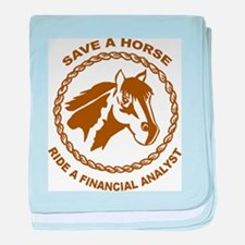 Ride A Financial Analyst baby blanket