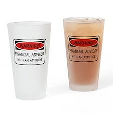Attitude Financial Advisor Pint Glass