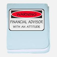 Attitude Financial Advisor baby blanket