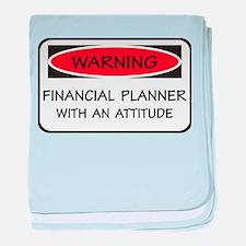 Attitude Financial Planner baby blanket