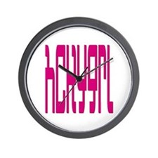 hckygrl (hockey girl) Wall Clock