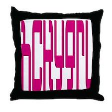 hckygrl (hockey girl) Throw Pillow