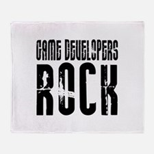 Game Developers Rock Throw Blanket
