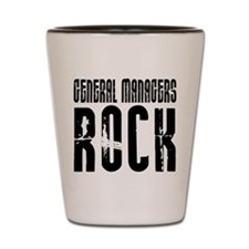 General Managers Rock Shot Glass
