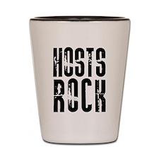 Hosts Rock Shot Glass