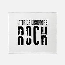 Interior Designers Rock Throw Blanket