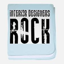Interior Designers Rock baby blanket
