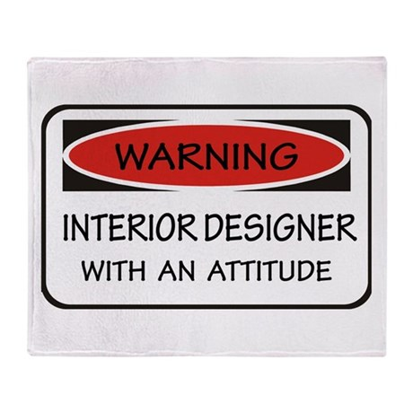 Attitude Interior Designer Throw Blanket