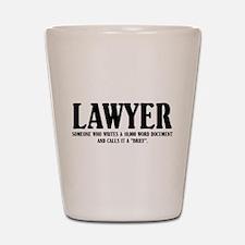 Funny Lawyer Shot Glass