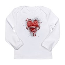 Heart Librarian Long Sleeve Infant T-Shirt