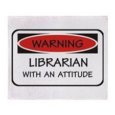 Attitude Librarian Throw Blanket