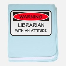 Attitude Librarian baby blanket
