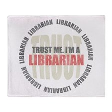 Trust Librarian Throw Blanket