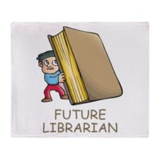 Future Librarian Throw Blanket